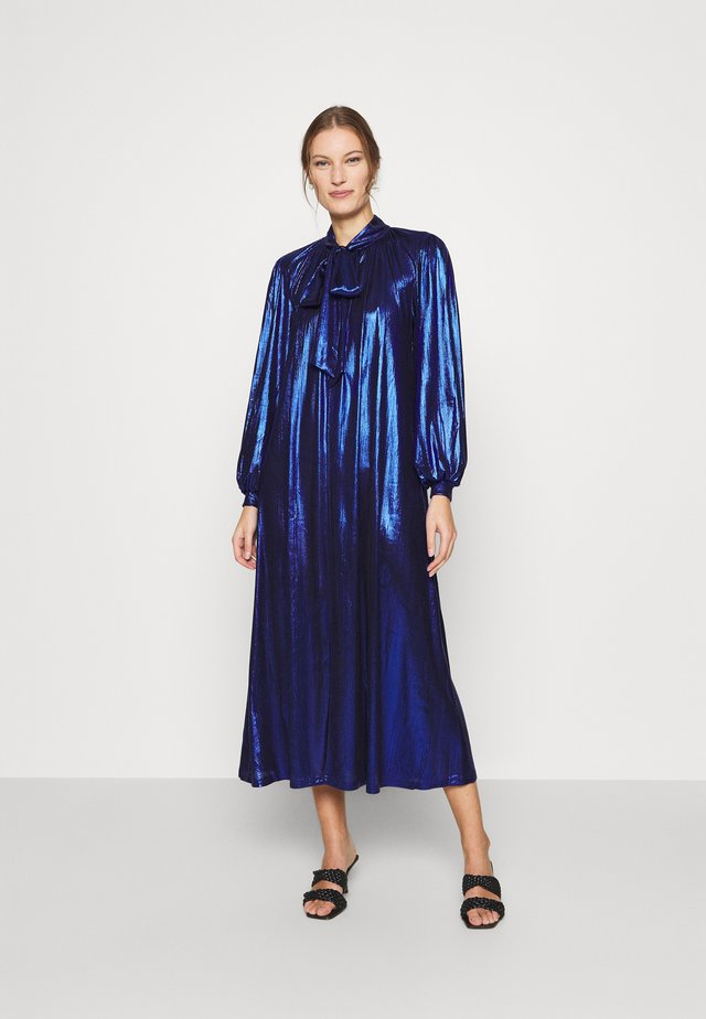 BIANCA DRESS - Maxi-jurk - metallic blue