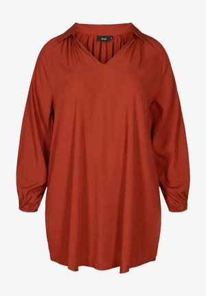 LONG-SLEEVED - Tunika - red