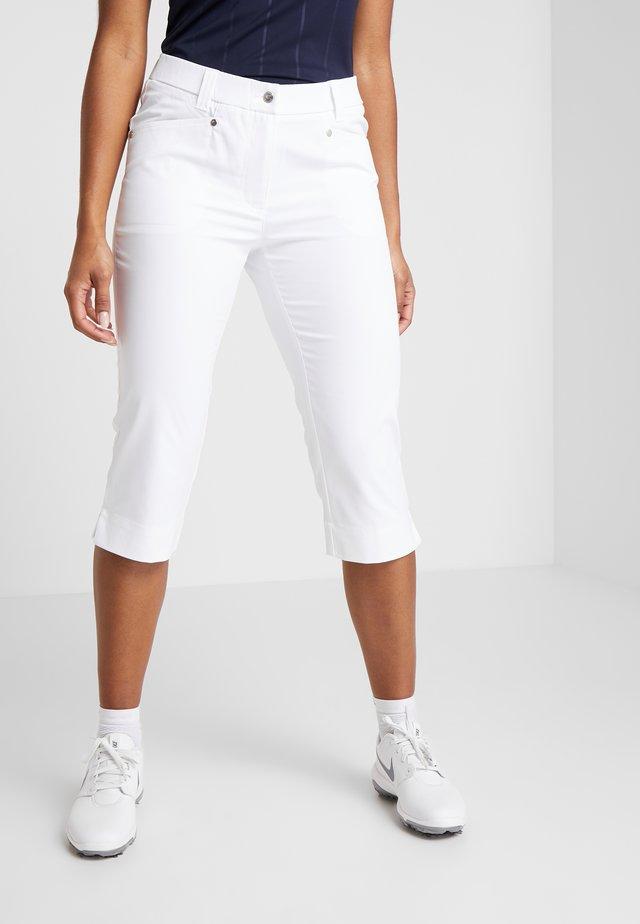 LYRIC CAPRI - 3/4 sports trousers - white