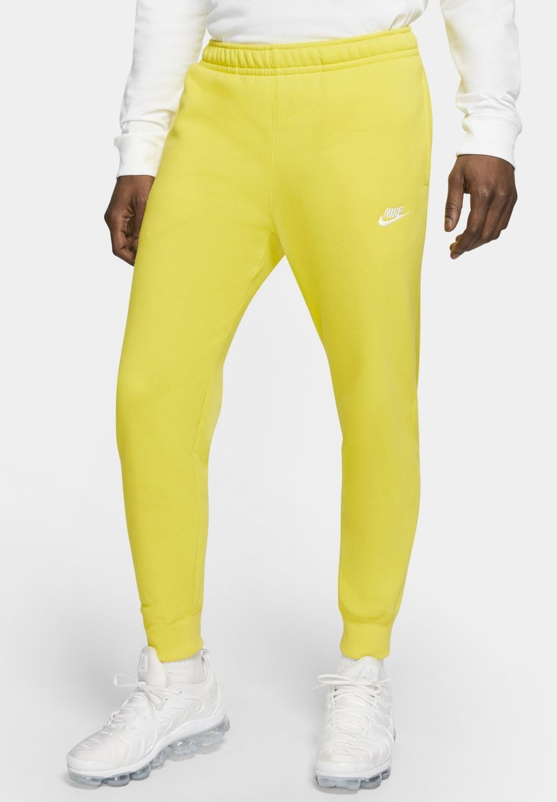Nike Sportswear - CLUB - Tracksuit bottoms - opti yellow/opti yellow/white