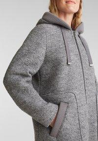 Esprit - MIT KAPUZE - Classic coat - gunmetal - 3