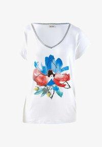 Alba Moda - Print T-shirt - weiß rot blau gelb - 6