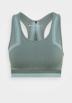 Light support sports bra - green