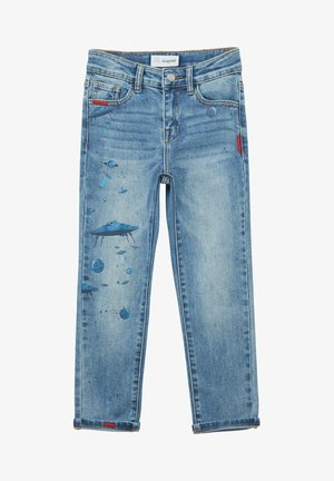 SPACE DRAWINGS - Jeansy Slim Fit - blue
