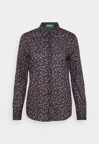Benetton - Button-down blouse - navy - 3