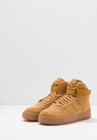 Nike Sportswear - AIR FORCE 1  - High-top trainers - wheat/light brown - 3