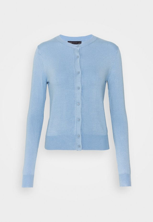 CREW CARDI PLAIN - Vest - blue