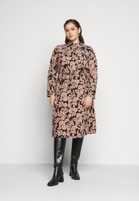 Pieces Curve - PCZINE DRESS CURVE - Hverdagskjoler - black/misty rose - 0