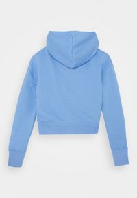 Nike Sportswear - AIR CROP HOODIE - Hoodie - royal pulse/white/atomic pink