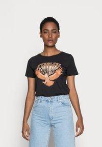 Culture - CUGABRIELLA - Print T-shirt - black - 0