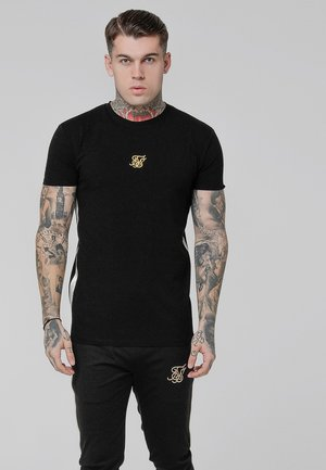 SIDE TAPED TEE - Basic T-shirt - black/gold
