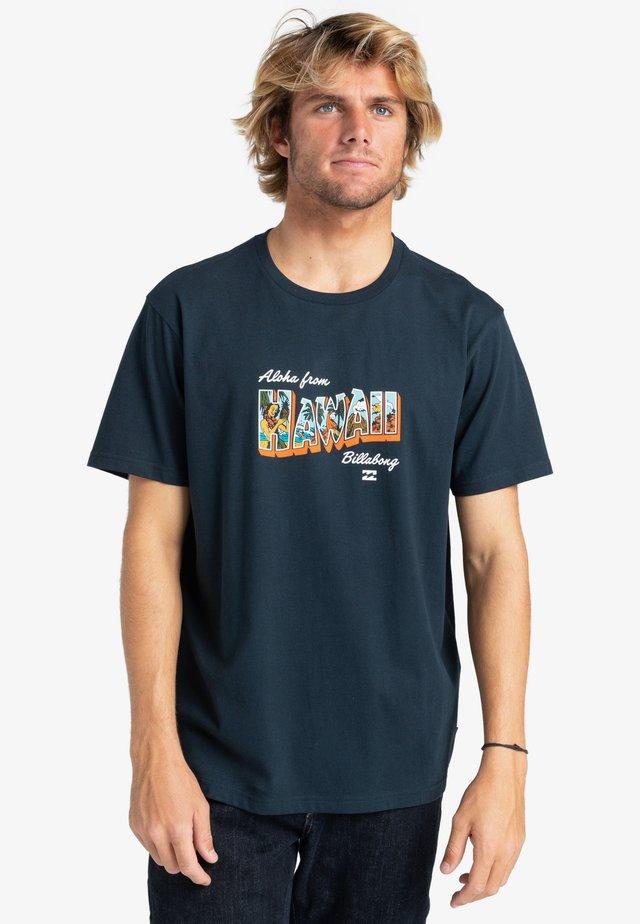GREETINGS - Print T-shirt - navy