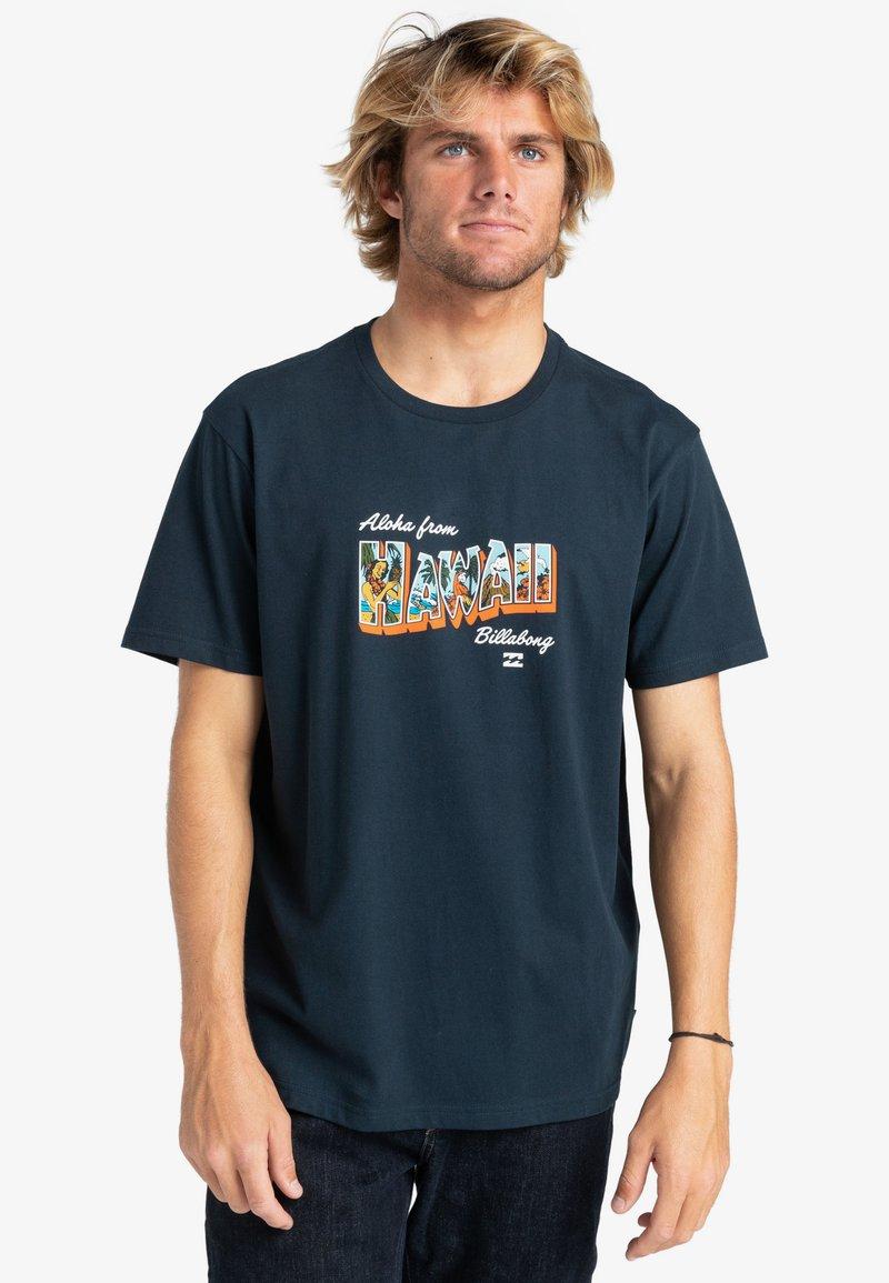 Billabong - GREETINGS - Print T-shirt - navy