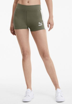 Sports shorts - deep lichen green