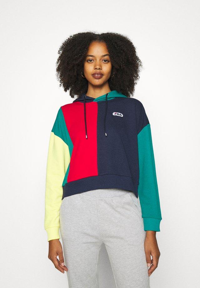 BAYOU - Sweater - black iris/true red/teal green/aurora