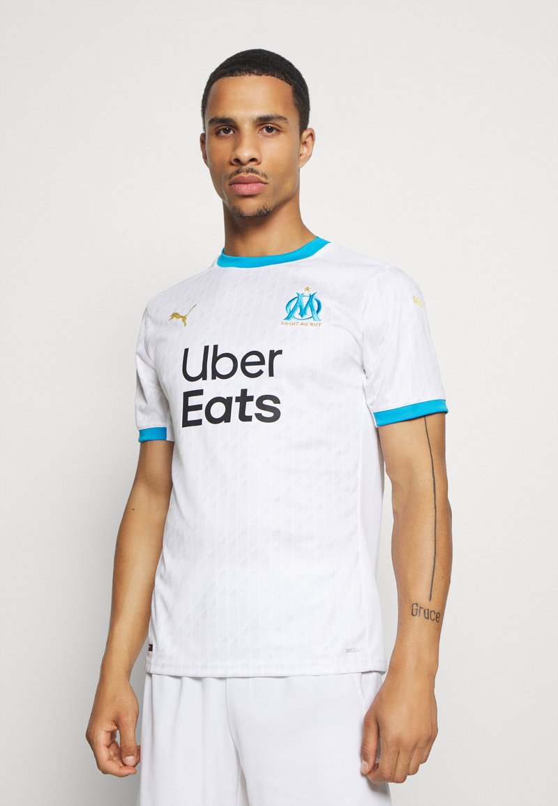 Puma - OLYMPIQUE MARSAILLE HOME SHIRT REPLICA - Club wear - white/bleu azur