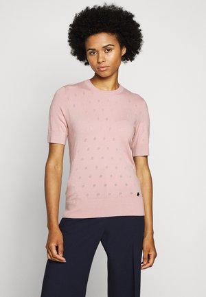 BURNOUT DOT - Basic T-shirt - rose smoke