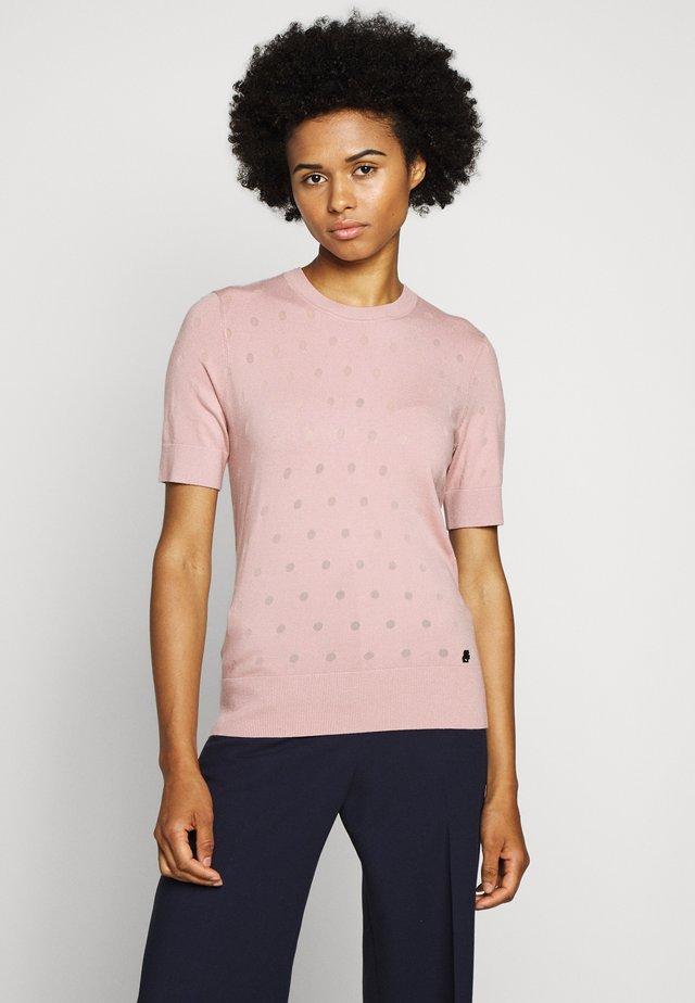 BURNOUT DOT - T-shirt basique - rose smoke