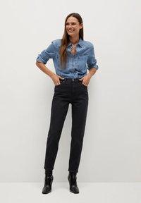 Mango - NEWMOM - Slim fit jeans - black denim - 1