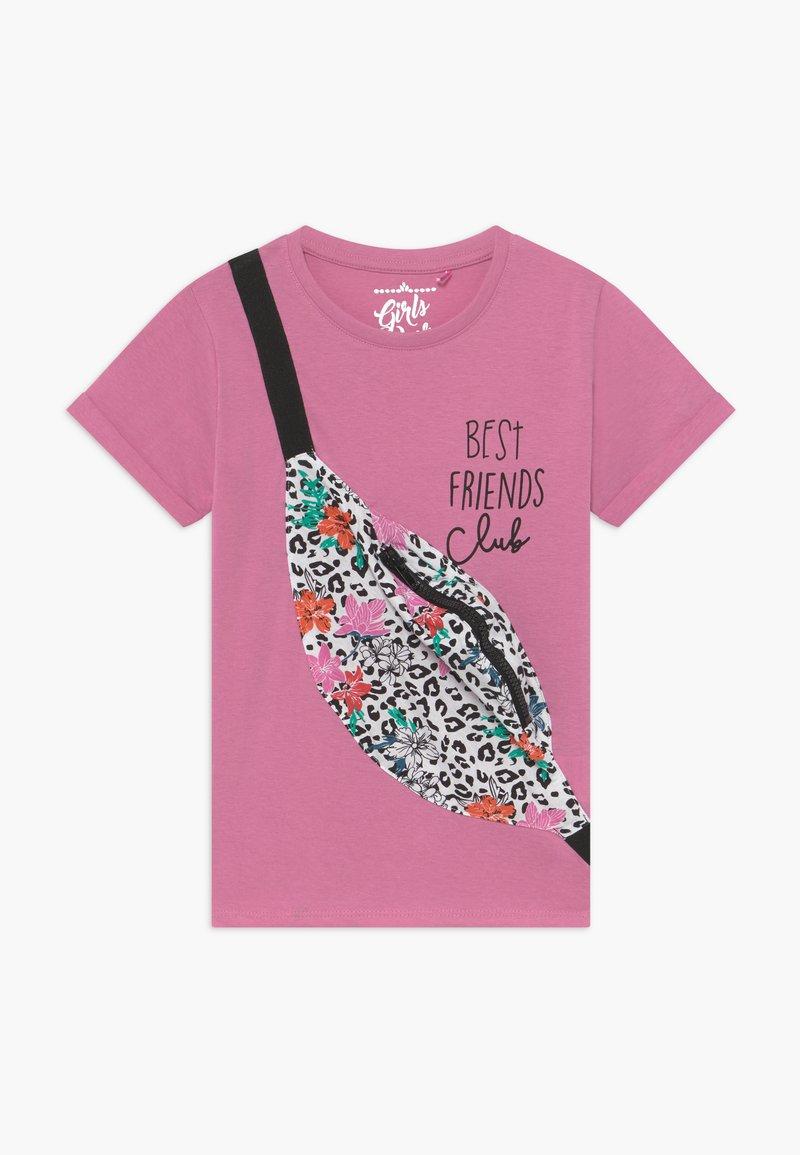 Lemon Beret - SMALL GIRLS - Print T-shirt - fushia pink