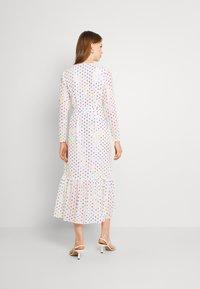 Never Fully Dressed - RAINBOW SPOT WRAP DRESS - Vestido informal - white - 2