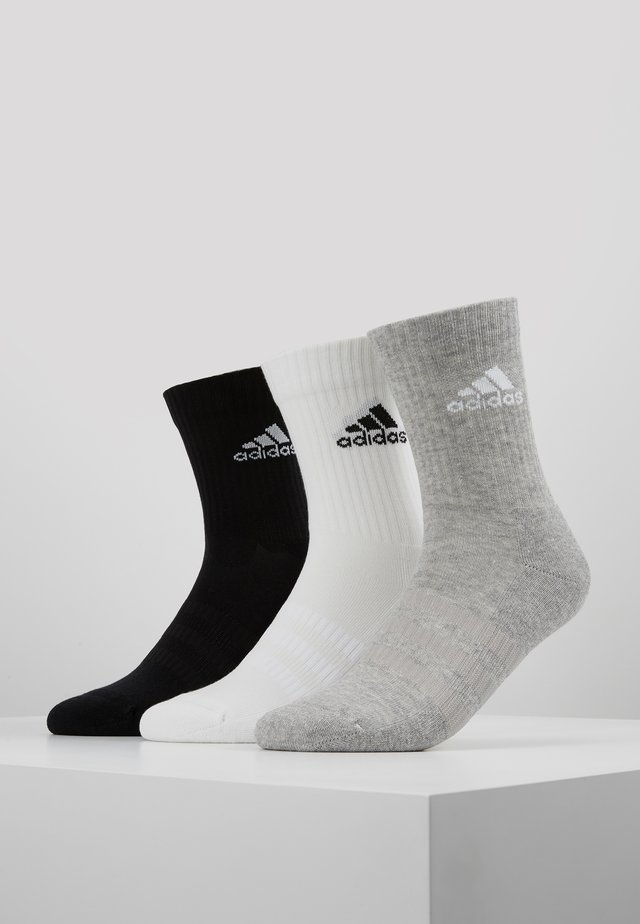 CUSH 3 PACK - Calze sportive - medium grey heather/black