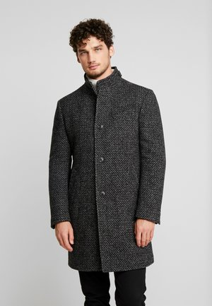 COAT LONG SLEEVE - Short coat - dark grey melange