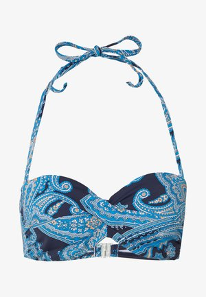 WIRE BAND BOHO - Bikini top - navy