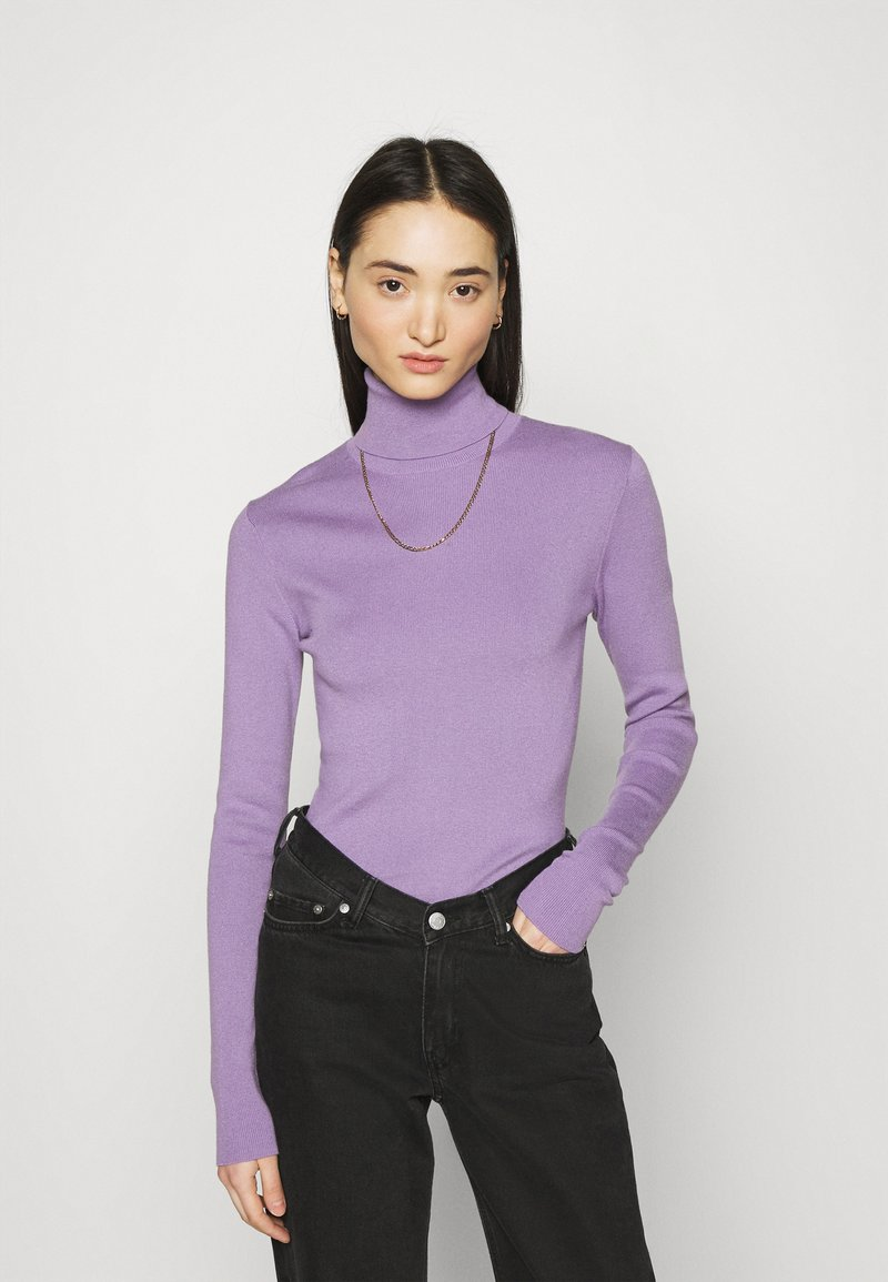Weekday - KIRSTEN TURTLENECK - Jumper - milky purple