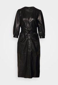Ibana - DORA DRESS WITH  BELT - Pouzdrové šaty - black - 4
