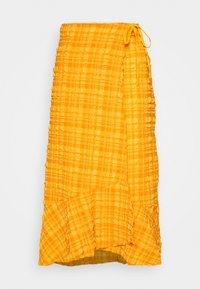 Monki - LANE SKIRT - Wrap skirt - orange - 4