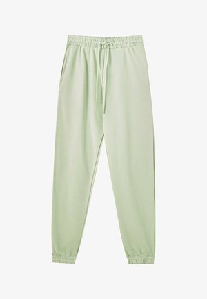 Tracksuit bottoms - mottled light green