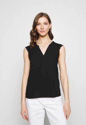 VMNADS LACE TOP COLOR - Blouse - black