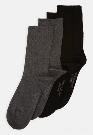 SOFT SOCKS 4 PACK - Socks - dark grey melange