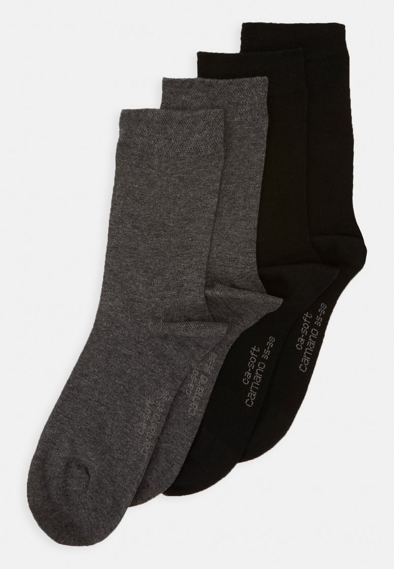 camano - SOFT SOCKS 4 PACK - Ponožky - dark grey melange