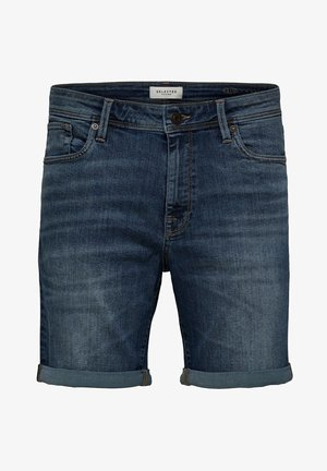 SUPERSTRETCH - Denim shorts - medium blue denim