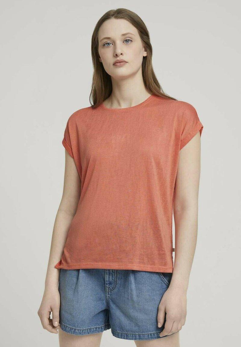 TOM TAILOR DENIM - T-shirt basic - sundown coral
