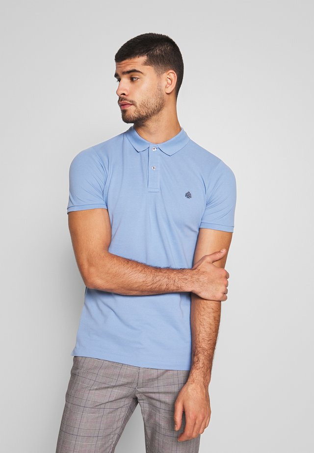 BASIC SLIM - Polo - blau