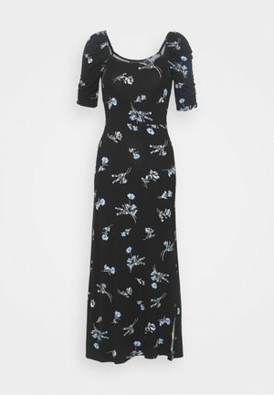 FLORAL DRESS - Maxi šaty - black