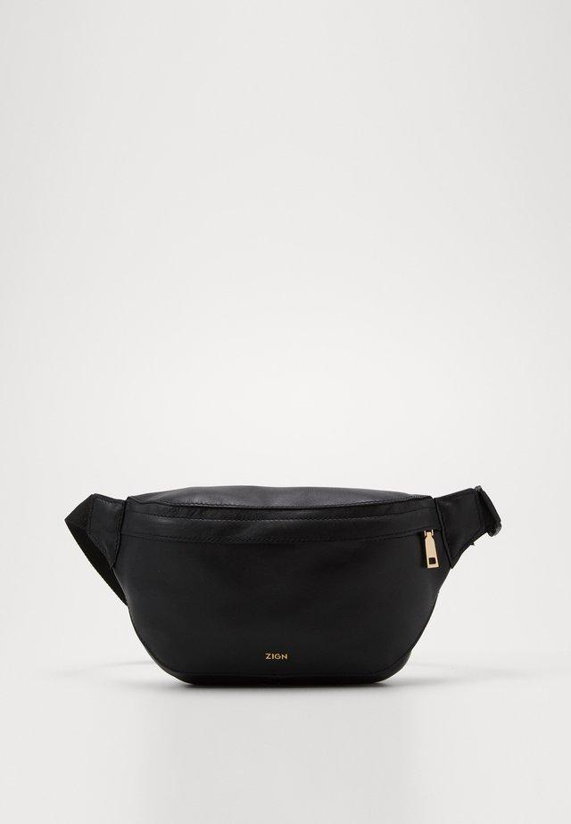 UNISEX LEATHER - Bum bag - black