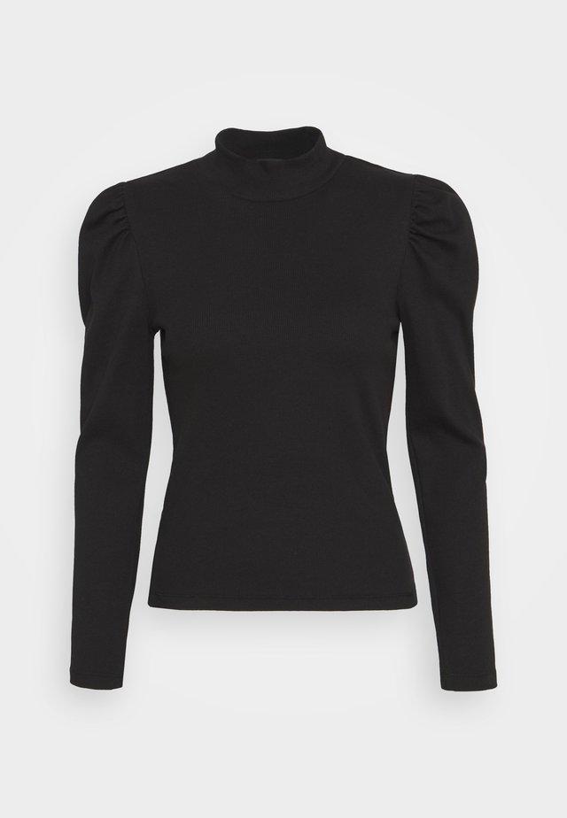 PCANNA T NECK - Pitkähihainen paita - black