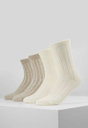 UNISEX FASHION HYGGE 4 PACK - Socks - offwhite
