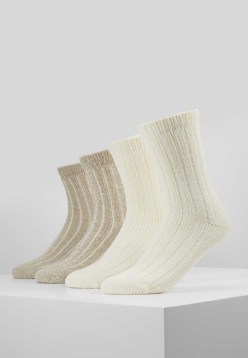 s.Oliver - UNISEX FASHION HYGGE 4 PACK - Sukat - offwhite