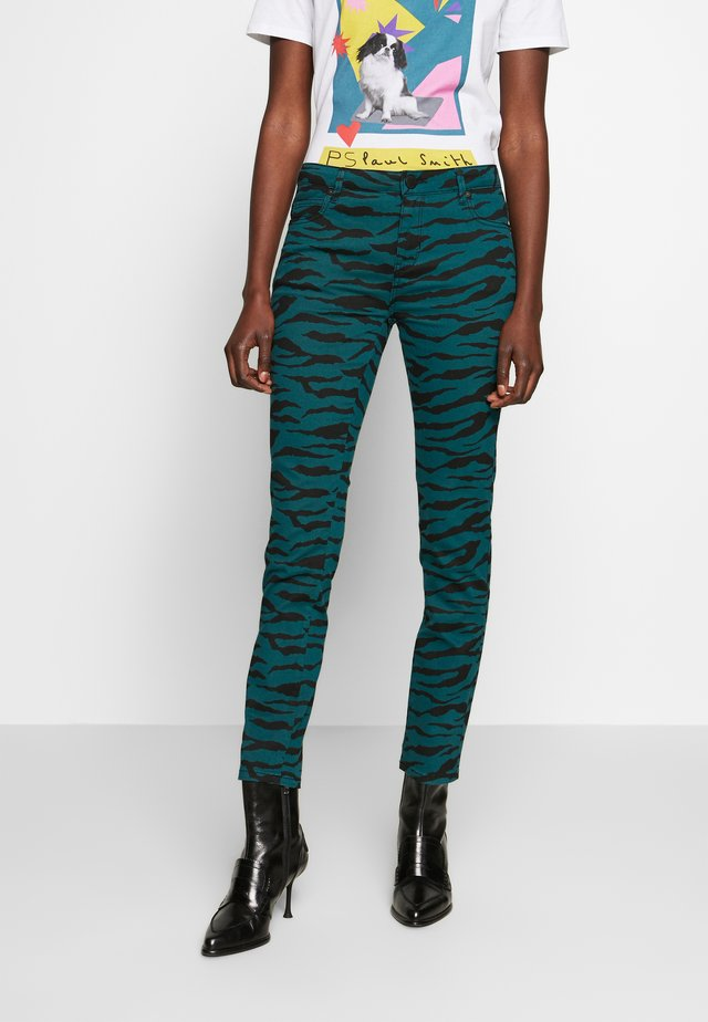 SALLY CROPPED ZEBRA - Straight leg jeans - atlantic deep
