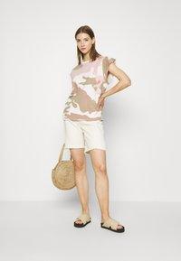 G-Star - GSRAW GYRE KNOT R T WMN CAP SL - Print T-shirt - khaki - 1