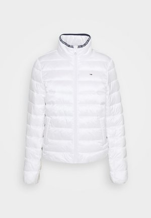 QUILTED ZIP THROUGH - Lett jakke - white