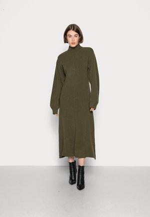 KAMILLA - Jumper dress - macchia green/dark silver pine