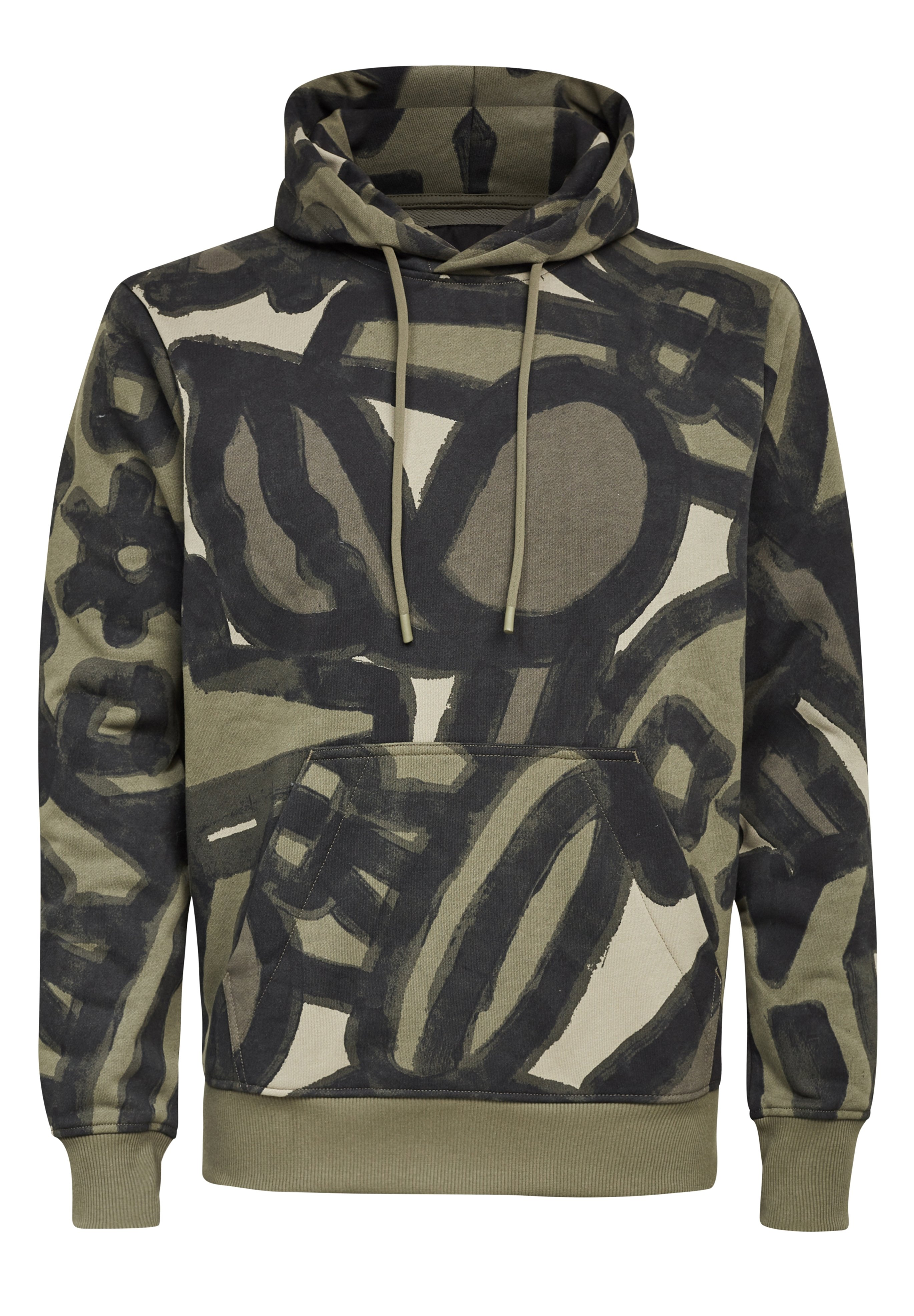Homme BRUSH STROKE ALLOVER HOODED - Sweat à capuche