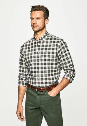 Shirt - green white