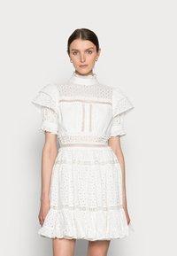 By Malina - IRO MINI LACE DRESS - Blousejurk - white - 0